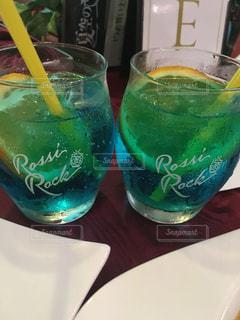 不健康な青色飲料の写真・画像素材[1369660]