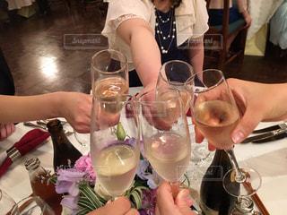 結婚式で祝盃の写真・画像素材[1369730]