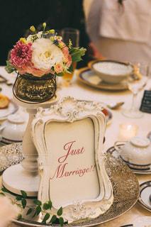 結婚式のテーブルコーディネートの写真・画像素材[1537508]