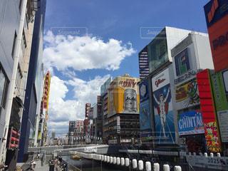 夏の大阪道頓堀の写真・画像素材[1384999]