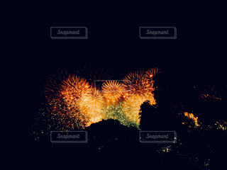 空に花火の写真・画像素材[1373386]
