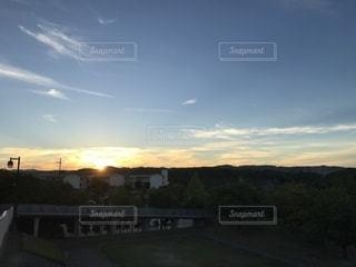 夕暮れの公園の写真・画像素材[1407800]