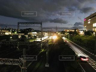 夜の駅の写真・画像素材[1516904]