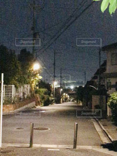 遠くの夜景の写真・画像素材[1612502]