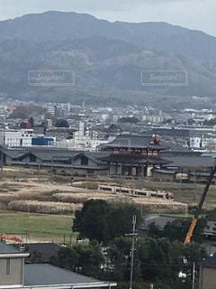 平城京朱雀門と近鉄特急の写真・画像素材[1656594]