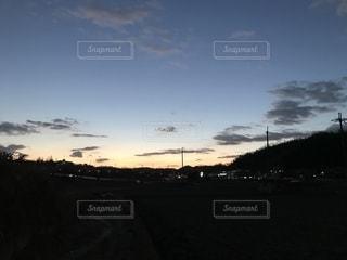 夕映えの一コマの写真・画像素材[1744843]