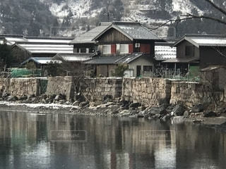 琵琶湖海津の石積みの写真・画像素材[1758734]