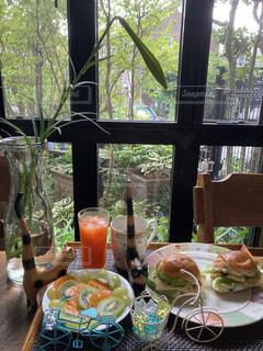 サンドイッチモーニングの写真・画像素材[4708689]