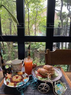 サンドイッチモーニングの写真・画像素材[4716278]