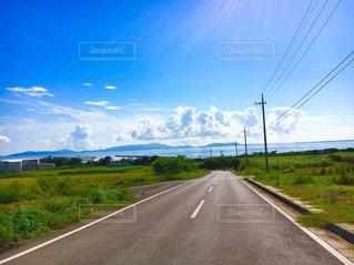 島の道と海の写真・画像素材[1447546]