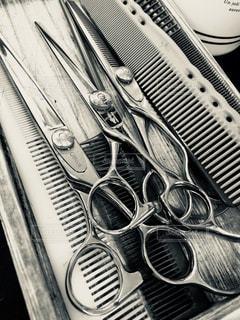 美容師さんのシザーの写真・画像素材[1498636]