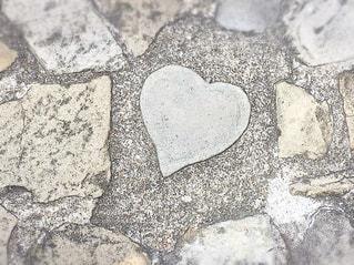 ハートの石畳の写真・画像素材[3196368]