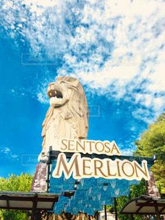 セントーサ島のマーライオンの写真・画像素材[1377959]