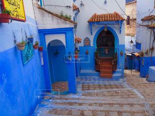青の街の写真・画像素材[1379237]