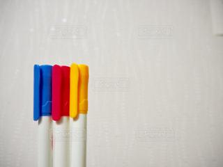3色ペンの写真・画像素材[1394641]