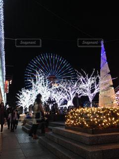 クリスマスのイルミネーションの写真・画像素材[1397785]