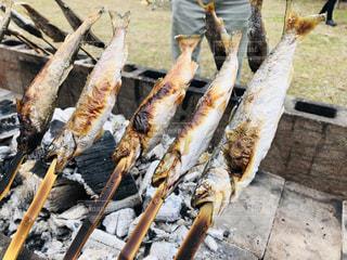 田舎のイベントでヤマメの塩焼きの写真・画像素材[1751037]