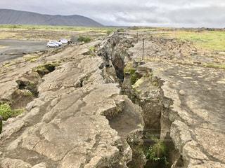 地割れの写真・画像素材[1422004]
