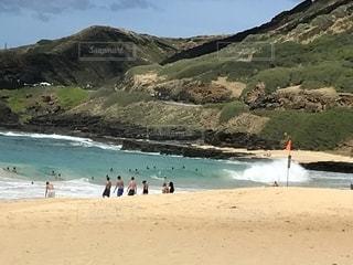 山とビーチの写真・画像素材[1380022]