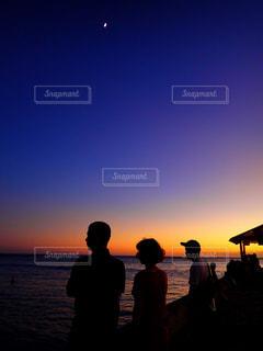 ハワイでの夕焼けの写真・画像素材[1382063]