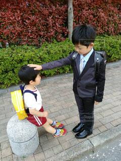 入学前のお兄ちゃんの写真・画像素材[1550454]