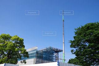 建設中の競技場の写真・画像素材[2163529]
