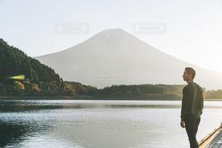 田貫湖の日の出の写真・画像素材[1387160]