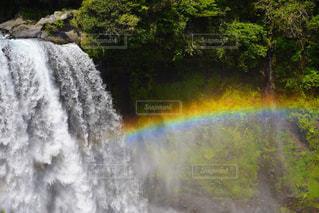 音止の滝虹の写真・画像素材[1388703]