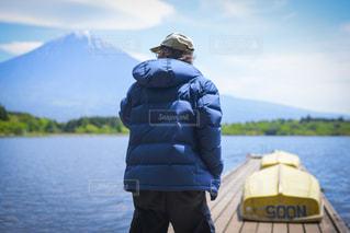 田貫湖の釣り人の写真・画像素材[1392723]