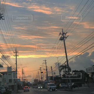 夕方の空の写真・画像素材[1388774]