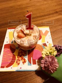 1歳の誕生日おめでとうの写真・画像素材[1386220]