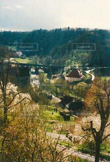 ドイツの小さな村風景の写真・画像素材[1390504]