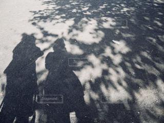 夫婦のシルエットの写真・画像素材[1421104]