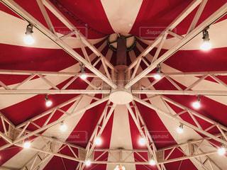 遊園地のコーヒーカップの天井です。の写真・画像素材[1426786]