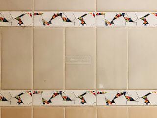 遊園地のトイレの壁のタイルです。の写真・画像素材[1427042]