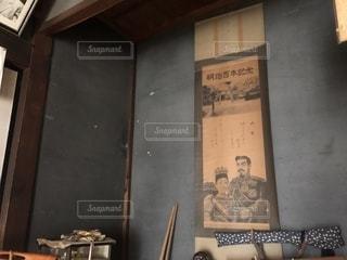 古民家仏間の掛け軸の写真・画像素材[1456489]
