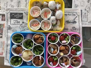小学校運動会のお弁当の写真・画像素材[1575416]