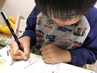 4歳児ひらがな学習の写真・画像素材[1605197]