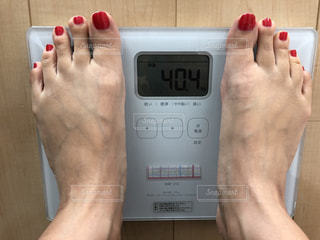 体重測定の写真・画像素材[1606535]