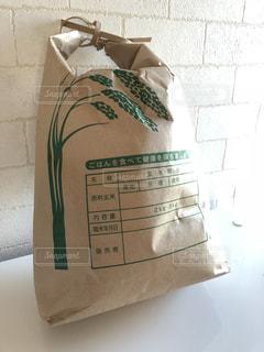 新米の米袋の写真・画像素材[1625409]