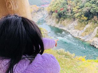 見下ろす川の写真・画像素材[1650813]