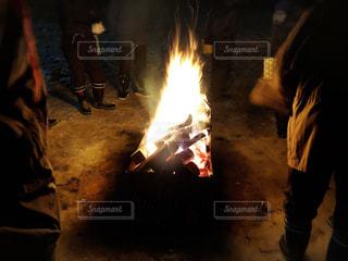 焚き火の写真・画像素材[1795299]