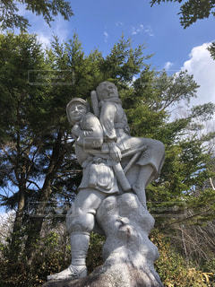 政井みねと兄の像の写真・画像素材[2087845]