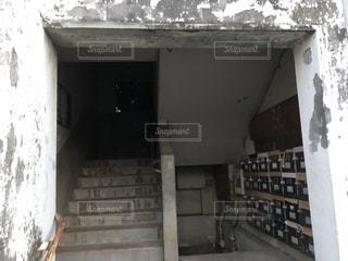 取壊し予定の団地入口の写真・画像素材[1415602]