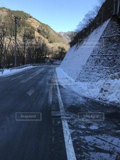 路面凍結の写真・画像素材[1387293]