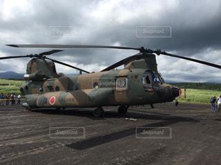 自衛隊 輸送ヘリの写真・画像素材[1387937]
