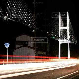 #長崎#女神大橋#夜景#テールランプ#夜景撮影の写真・画像素材[381314]
