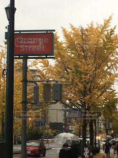 街の通り上の標識の写真・画像素材[1389716]