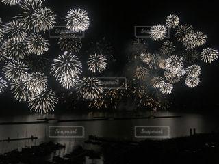夜空の花火の写真・画像素材[1389731]