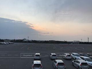 夕暮れの自動車教習所の写真・画像素材[1405113]